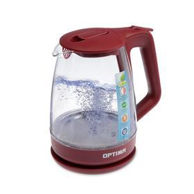 Чайник электрический OPTIMA EK-1718G, 2200 Вт, 1.7 л, бордовый