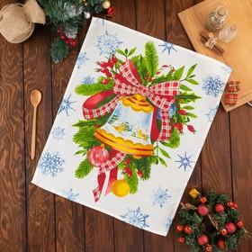 Полотенце Этель «Christmas bell» 50х60±3 см, вафля, 150 г/м2