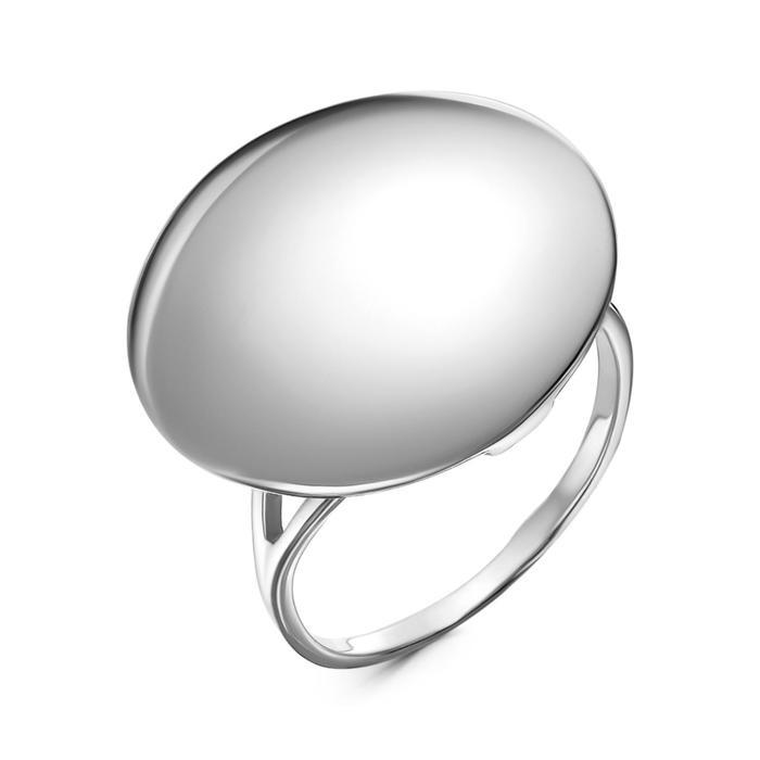 """Кольцо """"Минимал"""" круг, посеребрение, 17,5 размер"""