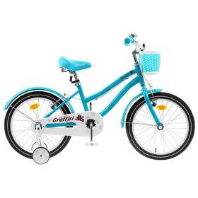 "Велосипед 18"" Graffiti Flower, цвет голубой"