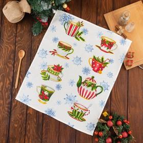 Полотенце Этель «Christmas time» 50х60±3 см, вафля, 150 г/м2