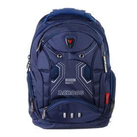 Рюкзак молодежный эргоном.спинка Across AC16 45*30*18 мал, синий 20-AC16-131