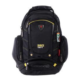 Рюкзак молодежный эргоном.спинка Across AC16 45*30*18 мал, чёрный/жёлтый 20-AC16-076