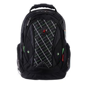 Рюкзак молодежный эргоном.спинка Across AC16 45*30*18 мал, чёрный/зелёный 20-AC16-061