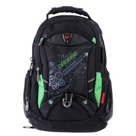 Рюкзак молодежный эргоном.спинка Across AC16 45*30*18 мал, чёрный/зелёный 20-AC16-075