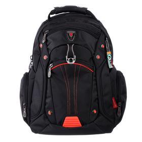 Рюкзак молодежный эргоном.спинка Across AC16 45*30*18 мал, чёрный/красный 20-AC16-009