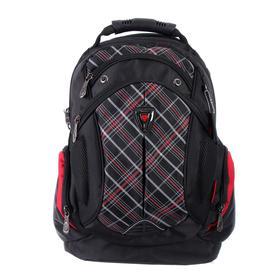 Рюкзак молодежный эргоном.спинка Across AC16 45*30*18 мал, чёрный/красный 20-AC16-059
