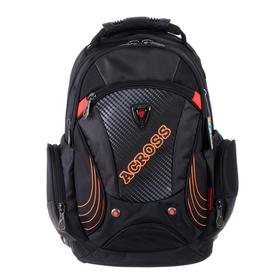Рюкзак молодежный эргоном.спинка Across AC16 45*30*18 мал, чёрный/оранжевый 20-AC16-077