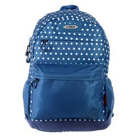 Рюкзак молодёжный, Merlin, 43 x 30 x 18 см, эргономичная спинка, синий