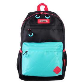 Рюкзак молодежный эргоном.спинка Merlin MR20-147 43*30*18 дев, чёрный/бирюзовый MR20-147-9