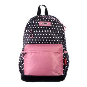 Рюкзак молодежный эргоном.спинка Merlin MR20-147 43*30*18 дев, чёрный/розовый MR20-147-12