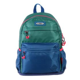 Рюкзак молодежный эргоном.спинка Merlin MR20-147 43*30*18, зелёный/синий MR20-147-5