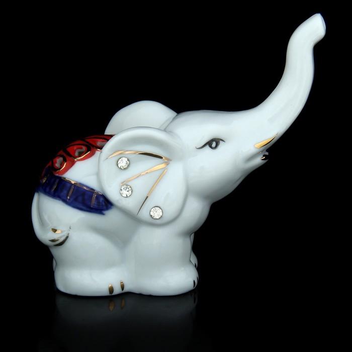 """Сувенир под фарфор """"Слонёнок со стразами в ушках"""""""