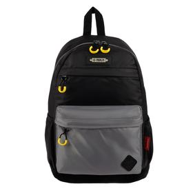 Рюкзак молодежный эргоном.спинка Merlin MR20-147 43*30*18 мал, чёрный/серый MR20-147-13