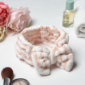 Повязка на голову «Этель» цвет розовый/белый