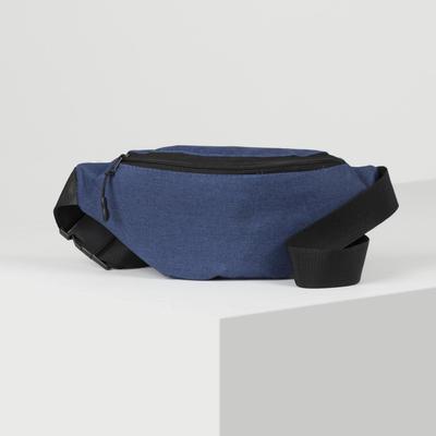 Bag on the belt D, 29*10*15, otd zipper, blue