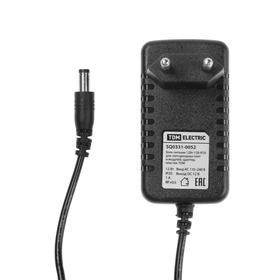 Блок питания для светодиодных лент и модулей TDM, 12 Вт, 12 В, P20, адаптер, пластик