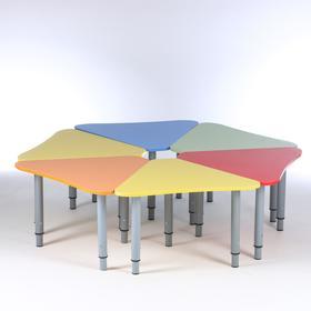 "Стол ""Лепесток"" на м. ножках D1400х460-580 , ЛДСП  цветной"