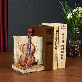 """Holder for books interior """"Violin and music book"""" MIX 19,5x11,5x11,5 cm"""