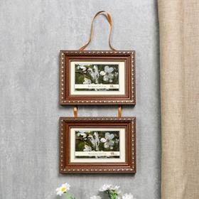 291-3022 photo frame (10x15 cm)*2 double on the braid