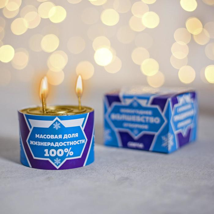 Свеча «Новогоднее волшебство отборное», 7 х 7 х 5 см
