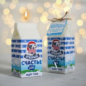 """Candle carton of milk """"Happiness choicest 100%"""", 12 x 5 x 5 cm"""