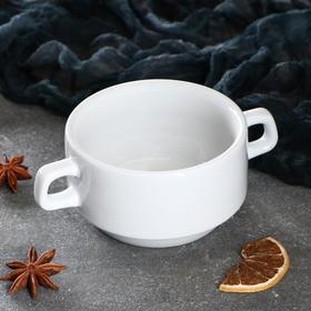 "Чашка для бульона ""Рест"", 320 мл, белая, 1 сорт, микс"