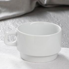"""Чашка для кофе """"Рест"""", белая, 200 мл, 1 сорт"""