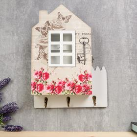 "Housekeeper tree ""House with the rose garden"" 30х22х6 cm"