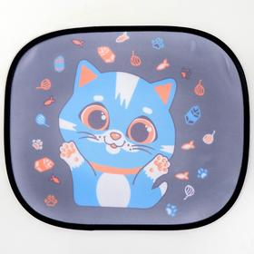 "Roller blind on side window, ""Kitten"", 2 PCs"