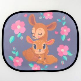 "Roller blind on side window, ""Deer"", 2 PCs"