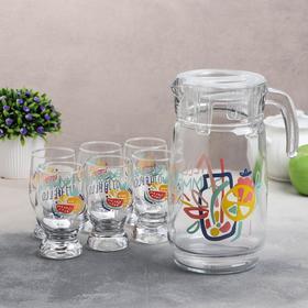 Набор питьевой «Креатив Саммер», 7 предметов: кувшин 1,65 л, 6 стаканов 220 мл