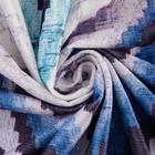 Штора портьерная Этель «Памир» 110х260 см, цвет синий, 100% полиэстер, блэкаут