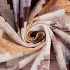 Штора портьерная Этель «Памир» 110х260 см, цвет коричневый, 100% полиэстер, блэкаут