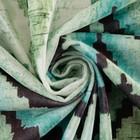Штора портьерная Этель «Памир» 230х260 см, цвет зелёный, 100% полиэстер, блэкаут