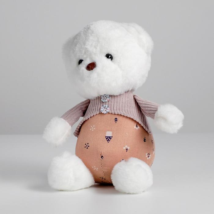 Мягкая игрушка «Мишутка в кофте», цвета МИКС - фото 4471374