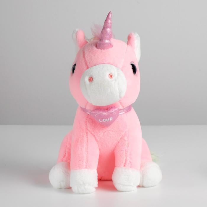 Мягкая игрушка «Единорог с сердцем», 26 см, цвета МИКС - фото 4471387