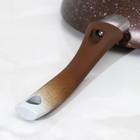 Сковорода-Wok классическая, d=28 см, антипригарное покрытие, кофейный мрамор - фото 746713