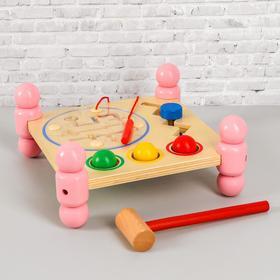 Игрушка из дерева «Логический столик» 12х26х26 см
