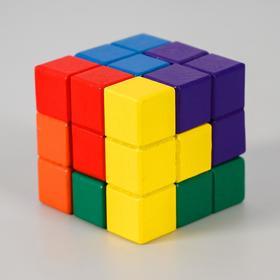 """Деревянная развивающая игрушка """"Сложи кубик"""" 6х6х6 см"""