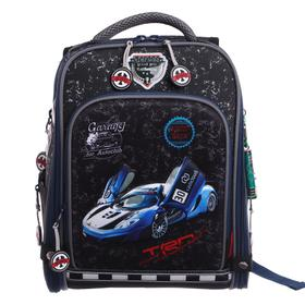 Рюкзак каркасный Across HK20 35*29*15 +мешок д/обуви мал, серый/синий 20-HK20-4