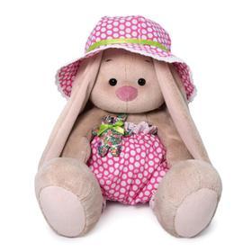 Мягкая игрушка «Зайка Ми», в шляпе с мишкой, 23 см