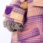 Мягкая игрушка «Басик», в пиджаке в сиреневую клетку, 22 см - фото 105613267