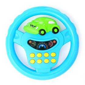 Руль музыкальный «Транспорт», световые и звуковые эффекты, работает от батареек, цвета МИКС
