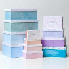 Набор коробок подарочных 12 в 1 «Цветочный сад», 18 х 11 х 6.5 см - 46,6 х 35,2 х 17.5 см