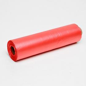Набор пакетов фасовочных 24 х 37 см, 8 мкм, 400 шт, на втулке,красн эконом