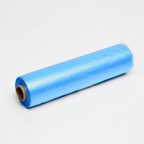 Набор пакетов фасовочных 24 х 37 см, 8 мкм, 400 шт, на втулке,син эконом