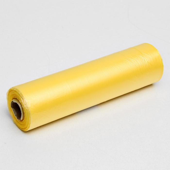 Набор пакетов фасовочных 24 х 37 см, 8 мкм, 500 шт, жёлт на втулке