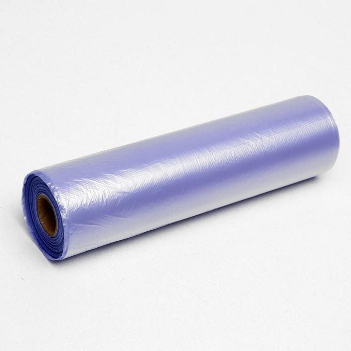 Набор пакетов фасовочных 24 х 37 см, 8 мкм, 500 шт, фиол на втулке МИКС - фото 1122695