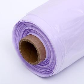Набор пакетов фасовочных 24 х 37 см, 8 мкм, 500 шт, фиол на втулке МИКС - фото 1122698